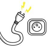 Enchufe y socket Foto de archivo libre de regalías