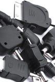 Enchufes de carga Imagen de archivo libre de regalías