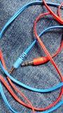 Enchufes de los auriculares Fotos de archivo libres de regalías
