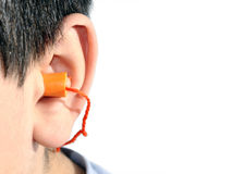 Enchufes de oído Imagenes de archivo