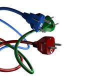 Enchufes del color Imagen de archivo libre de regalías