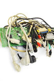 Enchufes del ordenador Foto de archivo