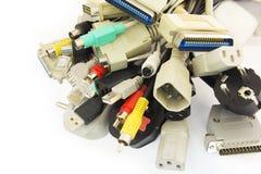 Enchufes del ordenador Imagen de archivo