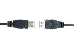Enchufes del USB aislados en un fondo blanco Fotografía de archivo libre de regalías