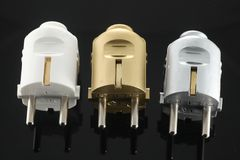 Enchufes eléctricos Imagenes de archivo