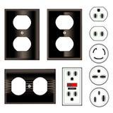 Enchufes eléctricos Fotos de archivo libres de regalías