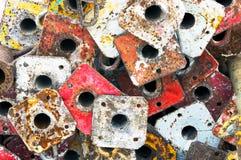 Enchufes metálicos del andamio Fotografía de archivo