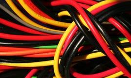 Enchufes multicolores Foto de archivo libre de regalías