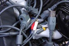 Enchufes y cables Imagen de archivo