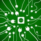 Enchufes y socket - sima de energía stock de ilustración