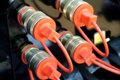 Enchufes y socketes Imagenes de archivo