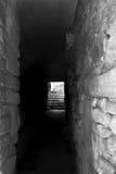 Enciéndase en el extremo del túnel del ladrillo Imagen de archivo