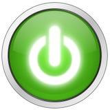 Encienda el botón de la potencia Fotografía de archivo