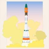 Encienda el cohete de espacio Foto de archivo