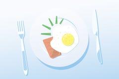 Encienda el desayuno Fotografía de archivo libre de regalías