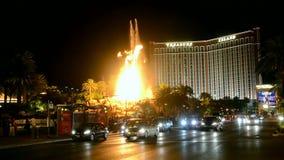 Encienda la demostración, tira de Las Vegas, Las Vegas, Nevada, los E.E.U.U., almacen de video