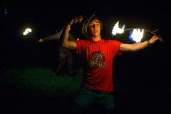 Encienda la demostración Tribo Fuego Imágenes de archivo libres de regalías