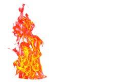 Encienda la llama aislada en el fondo aislado blanco - yel hermoso Fotos de archivo libres de regalías