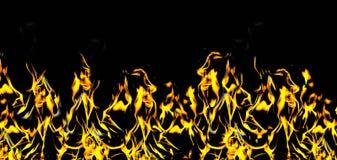 Encienda la llama con las chispas en un fondo negro fotografía de archivo