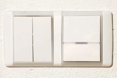 Encienda la pared blanca Imagen de archivo libre de regalías