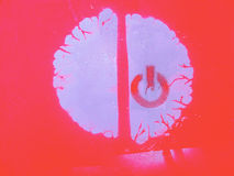 Encienda su cerebro Foto de archivo libre de regalías