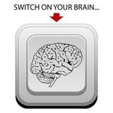 Encienda su cerebro ilustración del vector