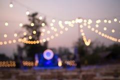 Enciende el fondo al aire libre del festival de la decoración imagen de archivo
