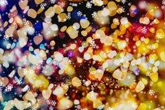 Enciende el fondo: falta de definición del concepto de las decoraciones del papel pintado de la Navidad contexto del festival del Imagenes de archivo