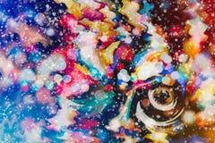 Enciende el fondo: falta de definición del concepto de las decoraciones del papel pintado de la Navidad contexto del festival del Imagen de archivo libre de regalías