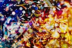 Enciende el fondo: falta de definición del concepto de las decoraciones del papel pintado de la Navidad contexto del festival del Foto de archivo libre de regalías