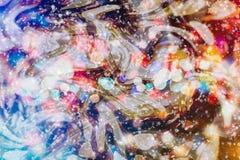 Enciende el fondo: falta de definición del concepto de las decoraciones del papel pintado de la Navidad contexto del festival del Foto de archivo