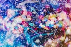 Enciende el fondo: falta de definición del concepto de las decoraciones del papel pintado de la Navidad contexto del festival del Fotos de archivo libres de regalías