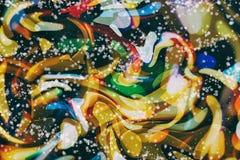 Enciende el fondo: falta de definición del concepto de las decoraciones del papel pintado de la Navidad contexto del festival del Fotos de archivo