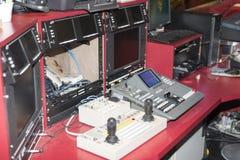 Enciende la sala de control Imágenes de archivo libres de regalías