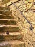 Encient schodki przy San Gimignano zdjęcia stock