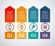 Encima de bandera infographic de la flecha libre illustration