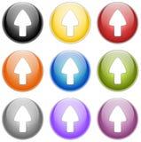 Encima de flecha fotos de archivo libres de regalías