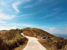 Encima de la colina Foto de archivo libre de regalías