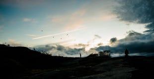Encima de la colina Fotos de archivo