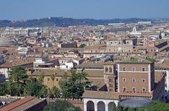 Encima de la vista de Roma Foto de archivo libre de regalías