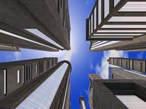 Encima de las calles - 01 Foto de archivo libre de regalías
