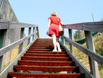 Encima de las escaleras Fotos de archivo