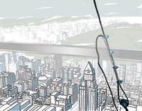 Encima de un rascacielos Imagenes de archivo