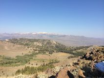 Encima de una montaña Foto de archivo