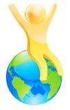Encima del mundo Foto de archivo libre de regalías