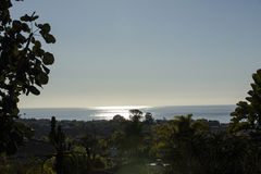 Encinitas California Sunset Stock Photo
