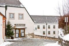 Enclaustre la tienda en la abadía de Andechs, Baviera, Alemania Imagenes de archivo