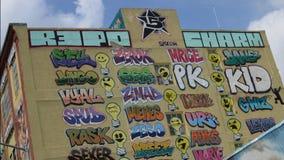 enclave do ` dos artistas 5Pointz na cidade de Long Island, NY Imagem de Stock