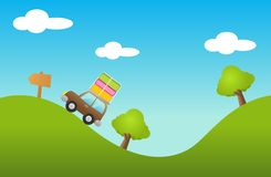 Enclenchement de route illustration libre de droits