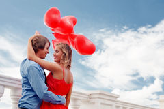 Enclenchement romantique Photos libres de droits